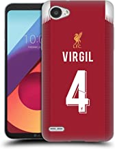 Official Liverpool Football Club Virgil Van Dijk 2019/20 Players Home KIT Group 2 Soft Gel Case Compatible for LG Q6 / Q6 Plus
