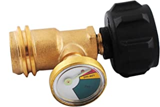 Goosheep Propane Tank Gauge Outdoor Gas Grill BBQ Camping Pressure /& Meter Indicator Fuel Adapter