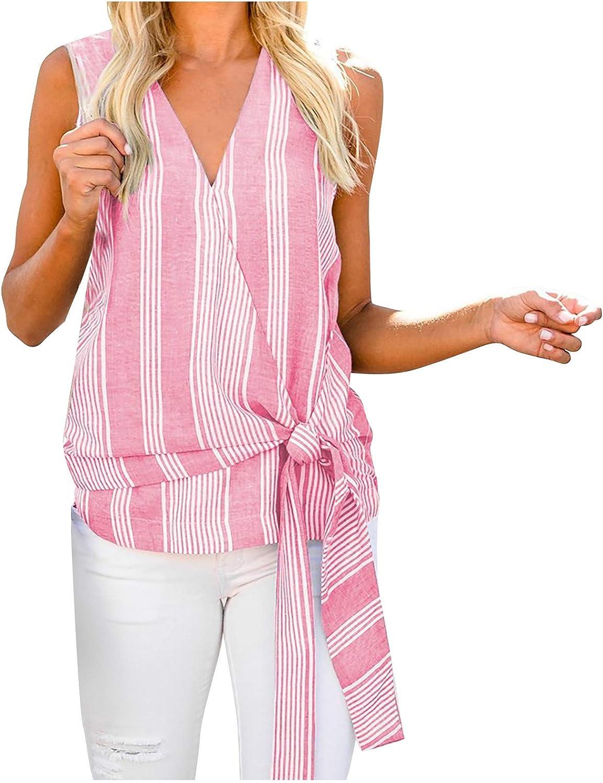 wrasf Women 2021 Summer V-Neck T-Shirt Tops,Summer Graphic Tank Tops,Women Vest Blouse,Casual Loose T-Shirt Shirt