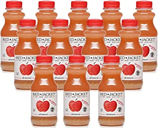 Red Jacket Orchards Strawberry Apple Juice, Cold Pressed, 100% Juice, 12 FL OZ (12 COUNT)