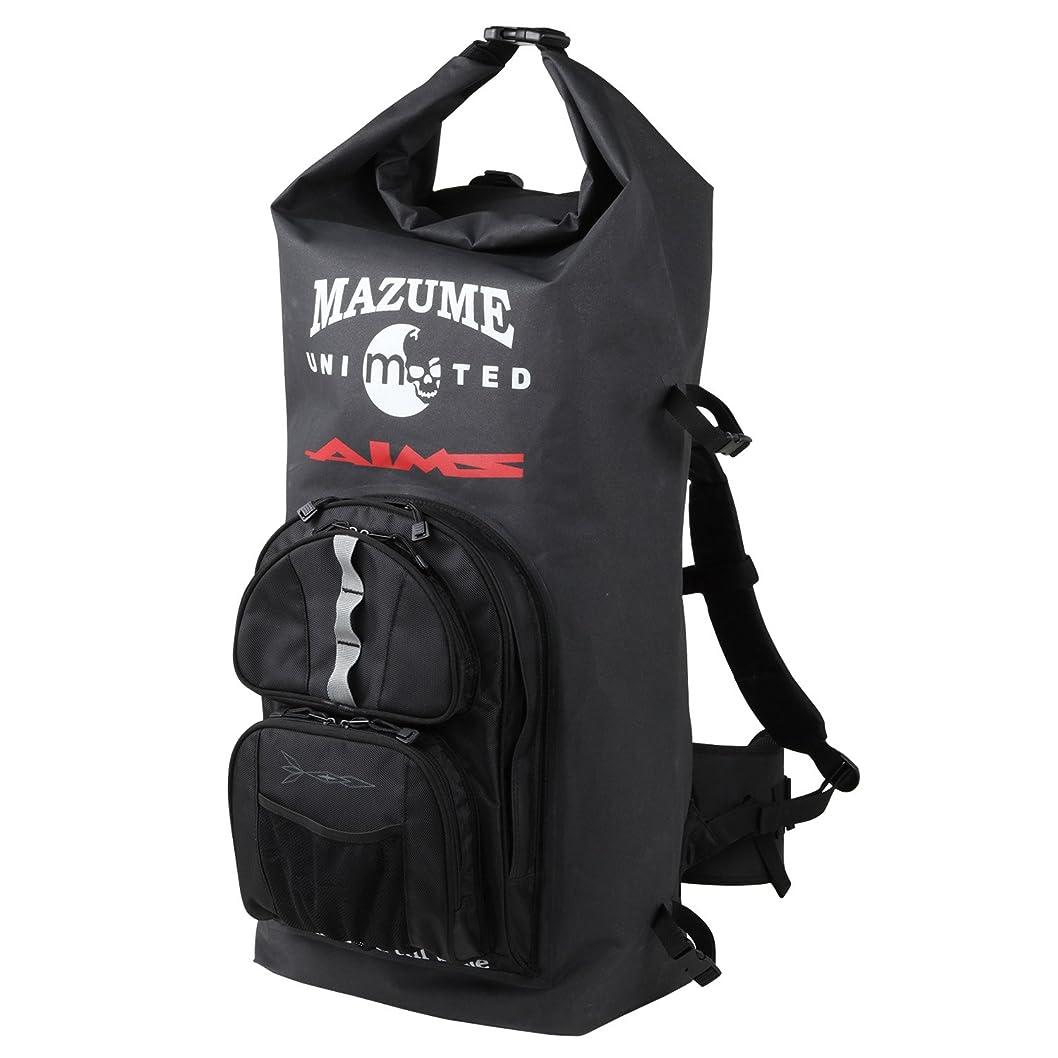 素子リース救援MAZUME(マズメ) 磯バッグ mazume×AIMS ウォータープルーフバックパック II MZBK-319-01 ブラック 70L