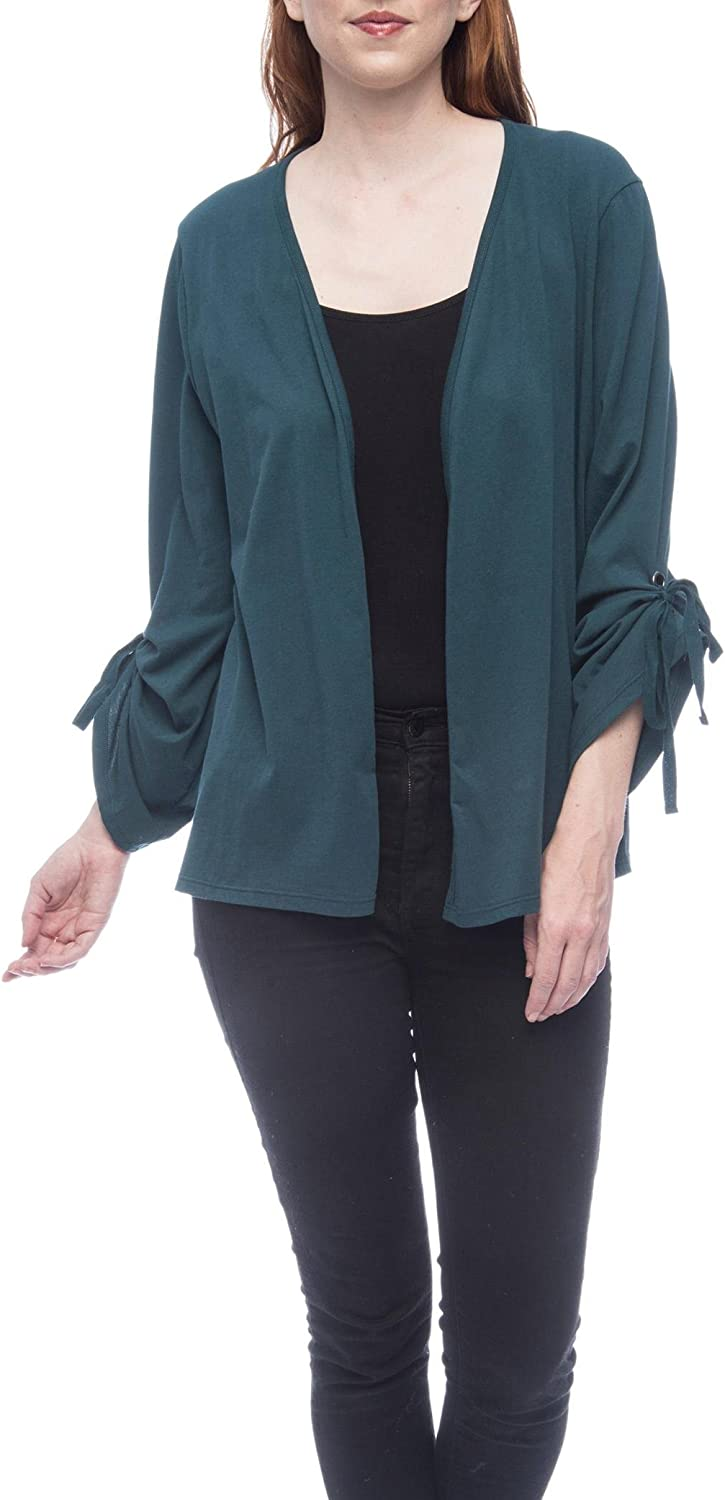 Bobeau Nia Ruched Sleeve Knit Cardigan