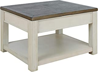 Signature Design by Ashley - Bolanburg Cocktail Table, Brown/White