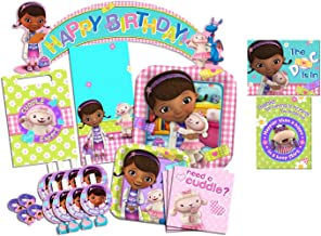 Disney Doc McStuffins Party Supplies Ultimate Set-- Birthday Party Favors, Plates, Napkins and More!