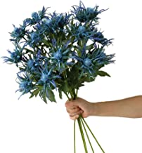 Allinlove 4 Bundles Artificial Thistle Spray Eryngo Fake Eryngium Sea Holly Flowers Bouquet Wedding Home Shop Office Resta...