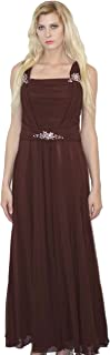 Nox Anabel Mother of the Bride Long Chiffon Gown Dress, Brown