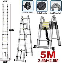 13 pelda/ños compactos para ahorrar espacio extensible a 3,8 m. Escalera extensible multiusos retr/áctil para bricolaje