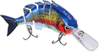 ROSE KULI Fishing Lures for Bass Multi Jointed Hard Crankbaits Lifelike Fishing Bait Tackle Kits