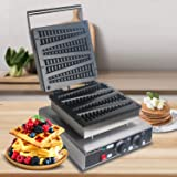 WantJoin CE Commercial Pine shaped Belgian Lolly Waffle maker Christmas Tree 110V US Non-stick Machine Waffle Stick Maker (Stainless Steel)