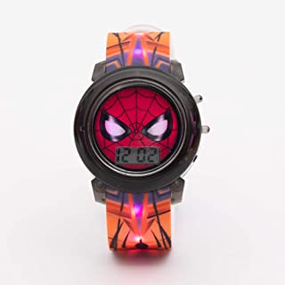 Marvel Spiderman Boys Digital Dial with Colorful Changing Lights in Strap Wristwatch - SA8133 Spiderman