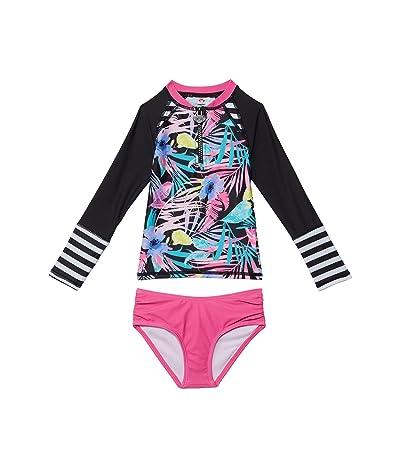 Appaman Kids Tropical Floral Long Sleeve Rashguard Set (Infant/Toddler/Little Kids/Big Kids)