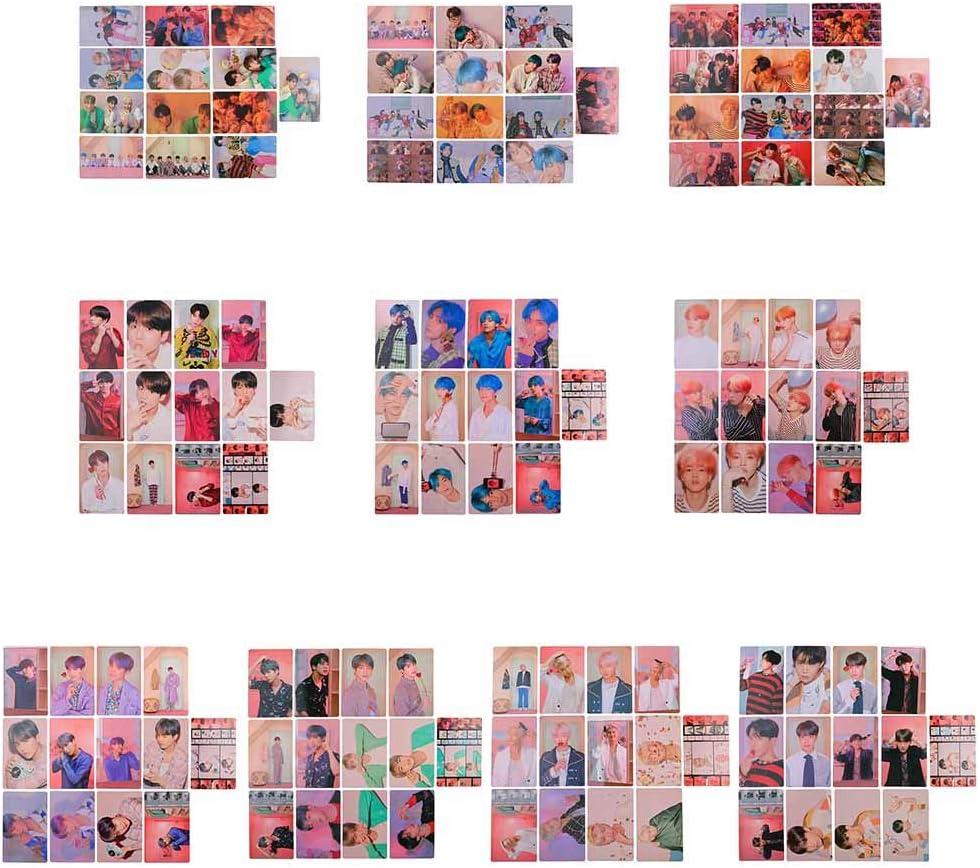 CAR-TOBBY per Confezione Set di 13 Carte fotografiche di Carta KPOP Map of The Soul Persona Jimin V Photocard 1 Unit
