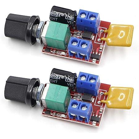 3~35V 12V 24V PWM DC Motor Speed Controller Adjustable Switch LED Fans Dimmer 5A