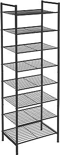SONGMICS Étagère à chaussures à 8 niveaux, Étagère de rangement, Organisateur, pour 16-24 paries, compact, grande capacité...