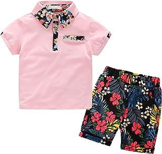 Nwada Ropa Niño Camiseta y Pantalon Cortos Conjuntos de Disfraz Traje Primavera y Verano Chandal de Fiesta 2-7 Años