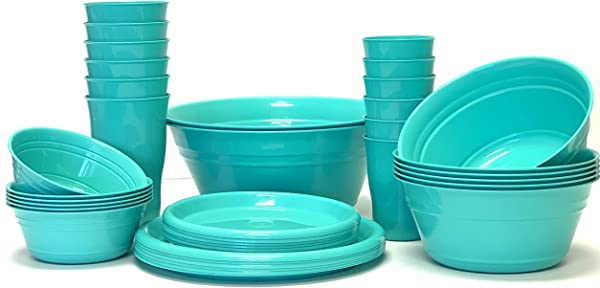 Mintra Home Snack Bowls Party Set 38pc Teal