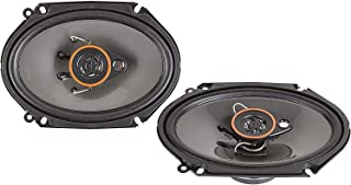 Alphasonik AS68 6x8 inch 350 Watts Max 3-Way Car Audio Full Range Coaxial Speakers with Universal Mounting Holes for Easy ...