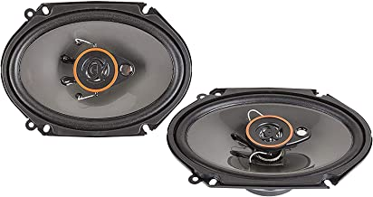 Alphasonik AS68 6x8 inch 350 Watts Max 3-Way Car Audio Full Range Coaxial Speakers with Universal Mounting Holes for Easy ... photo