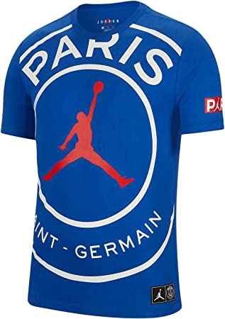 Nike Jordan Paris Saint-Germain PSG - Maglietta da uomo con logo ...
