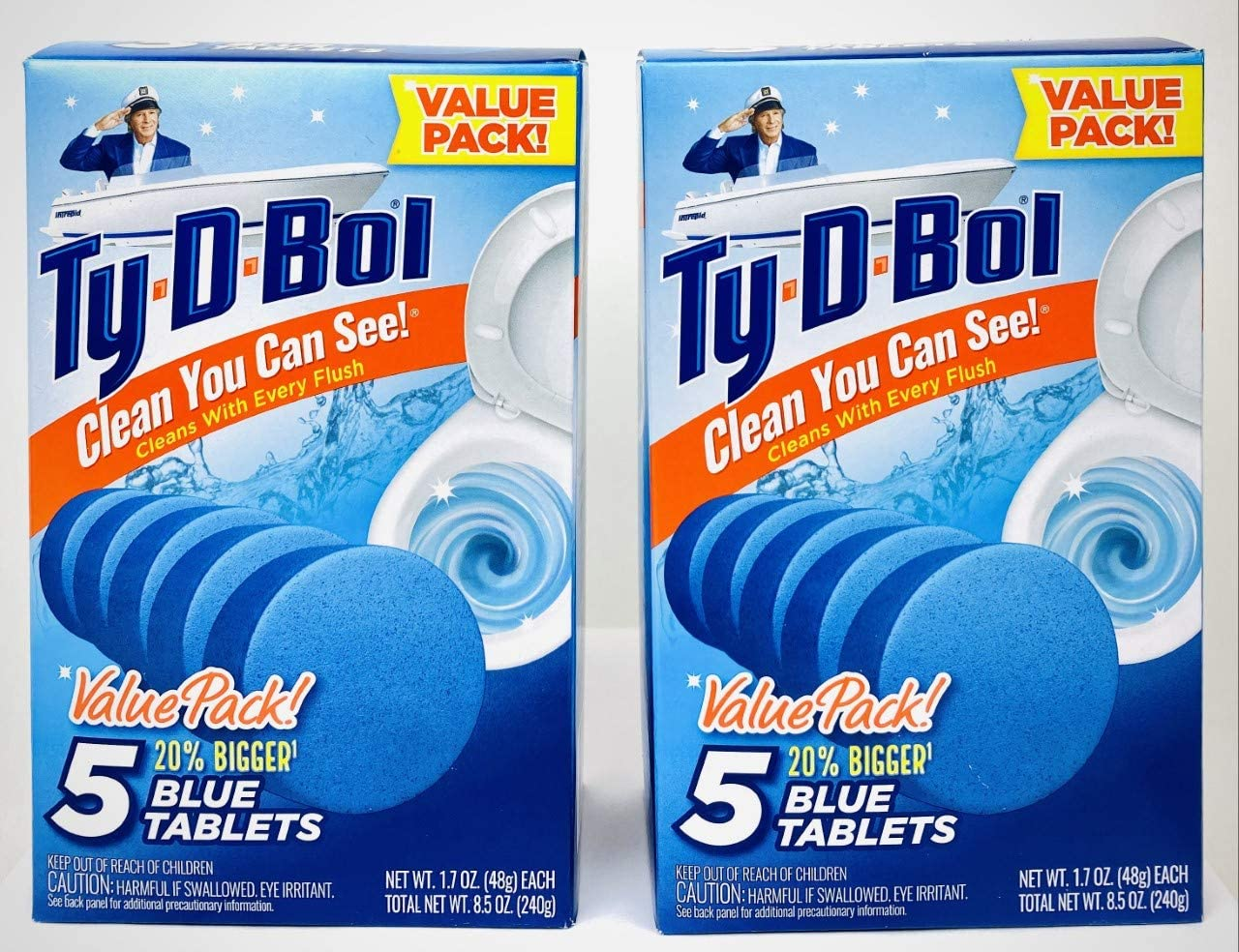 Ty D BOL Toilet Cleaning Tablets Continuous Max 47% OFF Spruce NEW before selling Sce with Blue