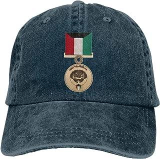 GAOFEIhat Kuwait Liberation Bronze Medal Unisex Adult Denim Hats Cowboy Hat Dad Hat Driver Cap