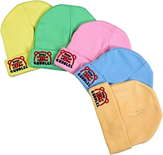Brim Hugs and Cuddles Velour Caps for Baby Boys and Girls(Pack of 5)