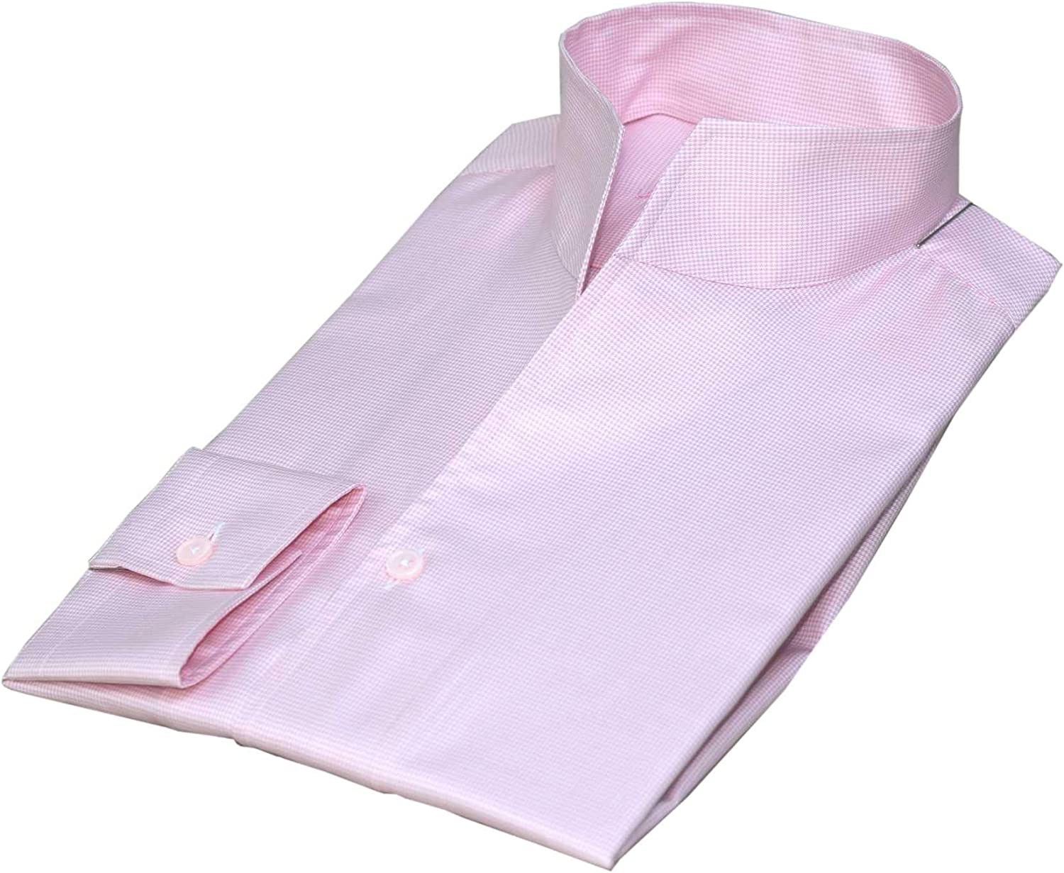 Mens high Open Ranking TOP7 Animer and price revision Collar Shirt Pink V 100% New Cotton Button no