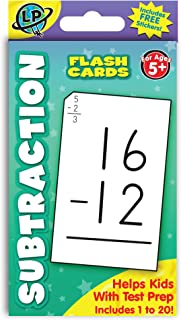 Eureka Subtraction Math Flashcards for Kids, 5.25'' W x 3.25'' H