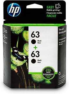 HP 63 Black Ink Cartridge (F6U62AN), 2 Cartridges (T0A53AN) for HP Deskjet 1112 2130 2132 3630 3632 3633 3634 3636 3637 HP ENVY 4512 4513 4520 4523 4524 HP Officejet 3830 3831 3833 4650 4652 4654 4655