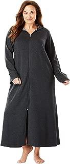 Women's Plus Size Hooded Fleece Robe