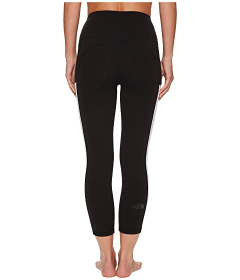 North Motivation TNF Crop pants Pocket blanco Face High Rise The TNF negro BSwpqCq