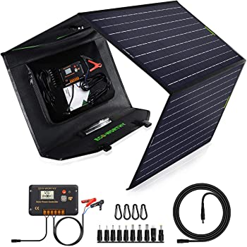 ECO-Worthy Upgrade 120 Watt Foldable Solar Panel Battery Charger Kit for Portable Generator Power Station with 20A Charge Controller