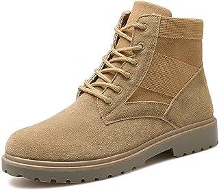 KINDOYO Homme Martin Bottes Classique Casual Chaud Mode Hiver Plates Hautes Lacets Chelsea Cheville Bottes Sneakers Chauss...