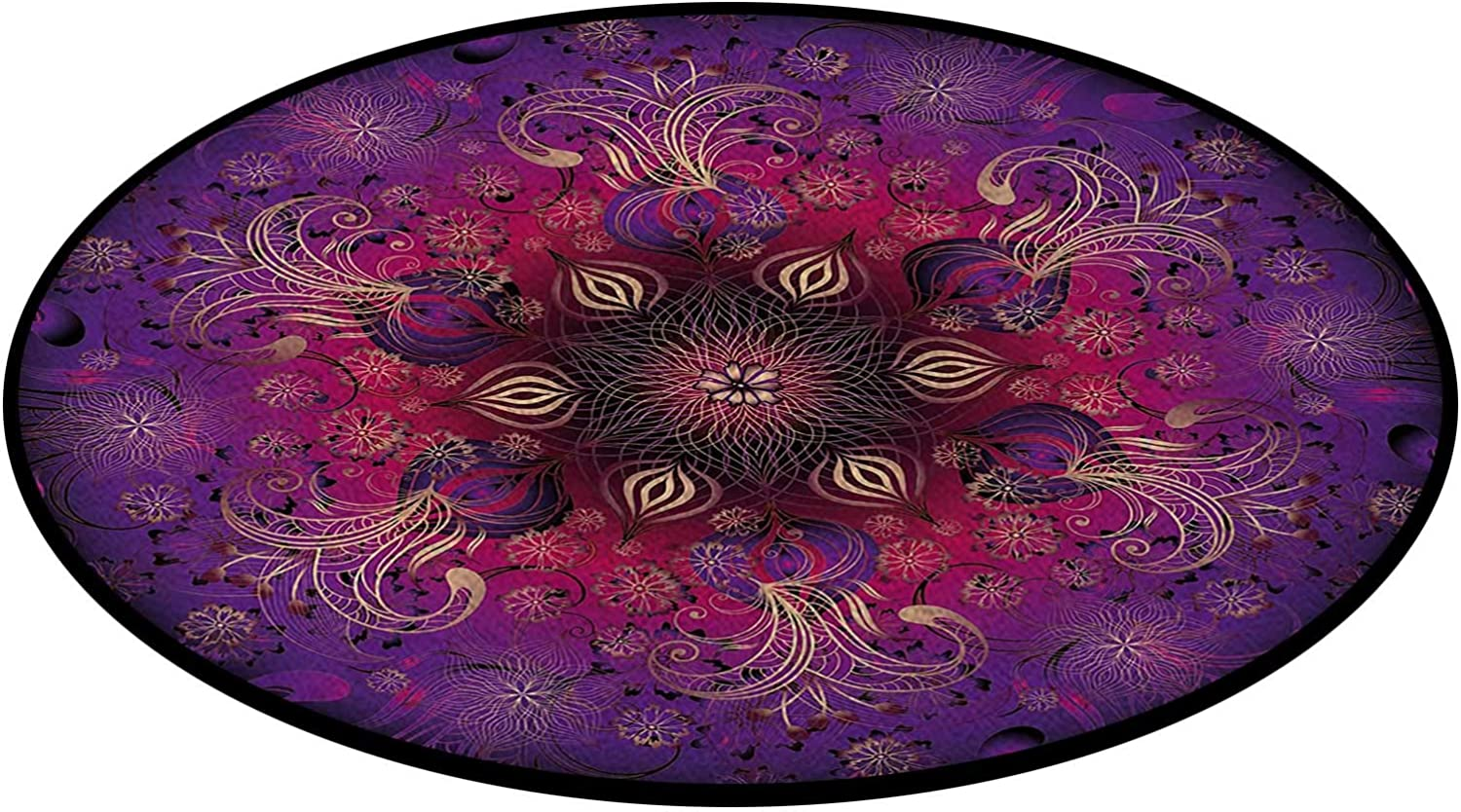 Sale special price Floral Persian Office Swivel Mat Multi-Purpose Carpe Spring new work Chair