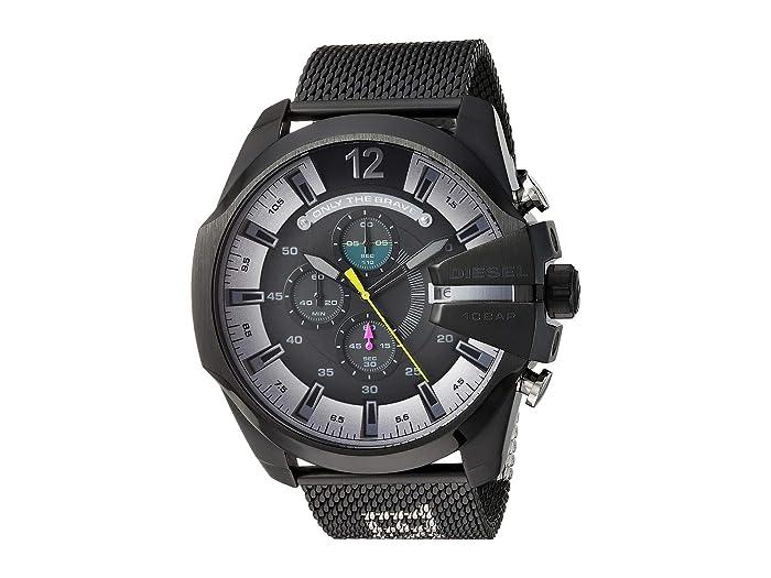 Diesel  Mega Chief - DZ4514 (Black/Silver) Watches