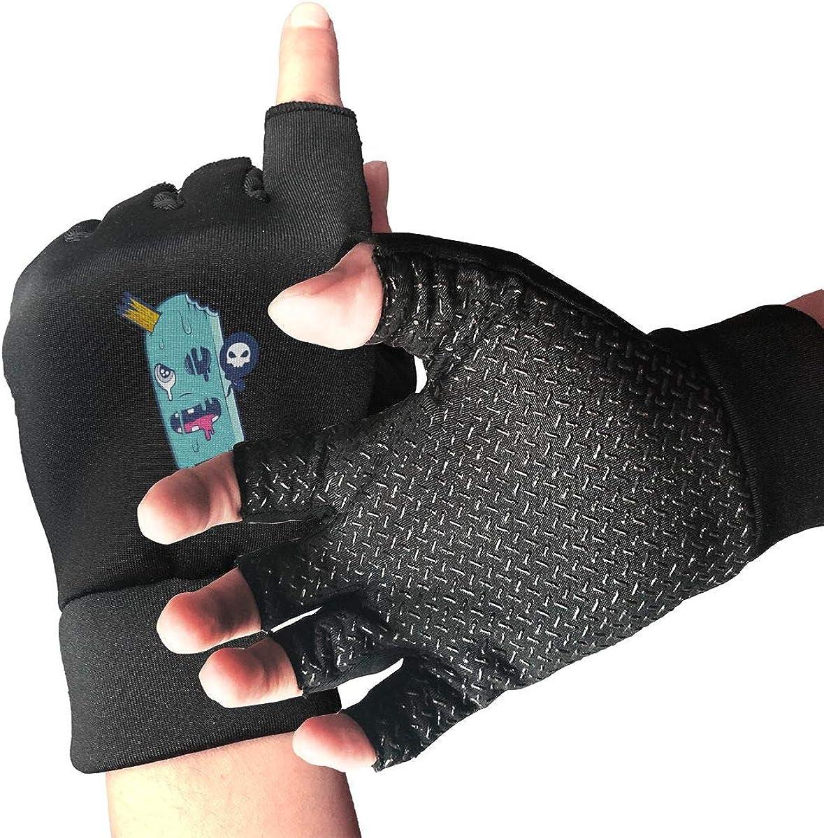 Gloves Creative Popsicle Fingerless Gloves Short Touchscreen Gloves Winter Motorcycle Biker Mitten