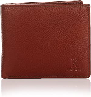 K London Sheffield Grind Handmade Genuine Leather Brown Men's Wallet