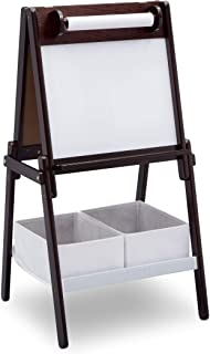 Delta Children MySize Double-Sided Storage Easel, Dark Chocolate