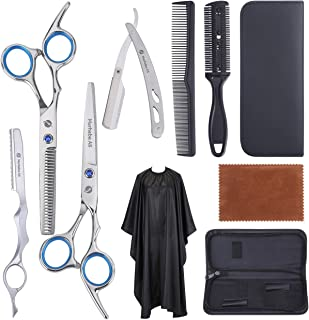 MarhabaAS Professional Hair Scissors Set-10Pcs Home & Salon Scissors, Stainless Steel Thinning Shears - The Only Premium H...