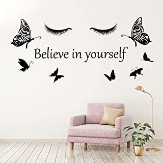 Inspirational Quote Wall Decals Believe in Yourself Motivational Wall Stickers Peel and Stick Positive Sayings Vinyl Lette...