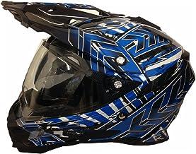 <h2>Motorradhelm MX Enduro Quad Helm Schwarz Blau mit Visier und Sonnenblende Gr. XL</h2>