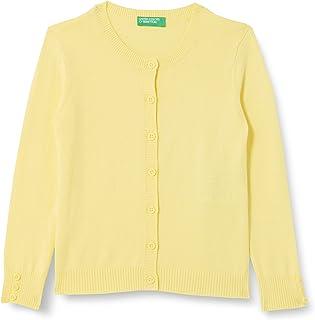 United Colors of Benetton (Z6ERJ) Girls' Maglia COREANA M/L 12DRC5383 Cardigan Sweater