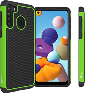 CoverON Grip Cover Phone Case Designed for Samsung Galaxy A21 Green A69-CO-SAA21-HY5-GR