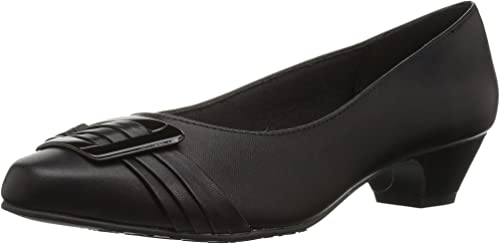Soft Style by Hush Puppies Wohombres Pleats Be with You Dress Pump, negro Patent, 8.5 W US