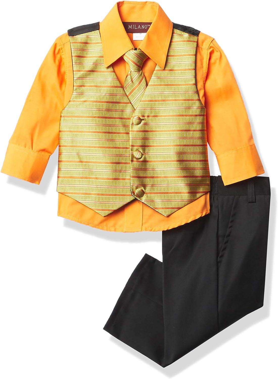 Milano Couture Men's 4 Piece Vest Suit Set