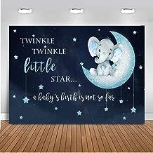 Mehofoto Boy Elephant Backdrop Twinkle Little Star Baby Shower Photography Background 7x5ft Vinyl Blue Elephant Baby Shower Party Backdrops