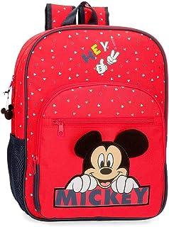 Happy Mickey Mochila Adaptable a Carro Rojo 28,5x38x12 cms Poliéster 13.68L