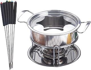 Stainless Steel Melting Pot 10PCS Ice Cream Melting Pot Cheese Fondue Kitchen Accessories