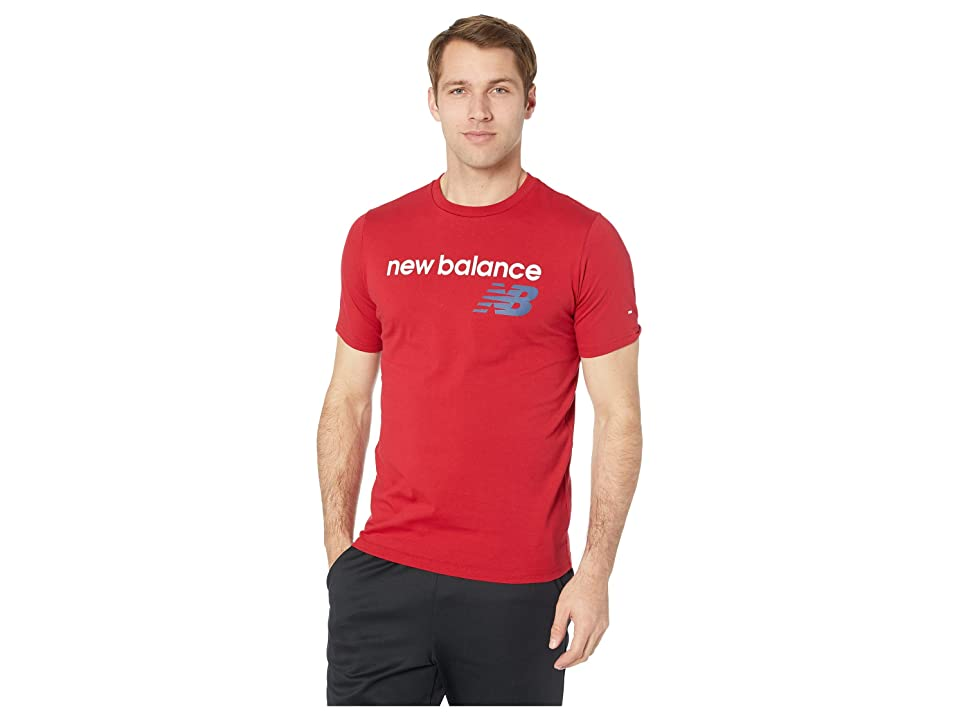 New Balance Athletics Main Logo Tee (Chilli Pepper) Men