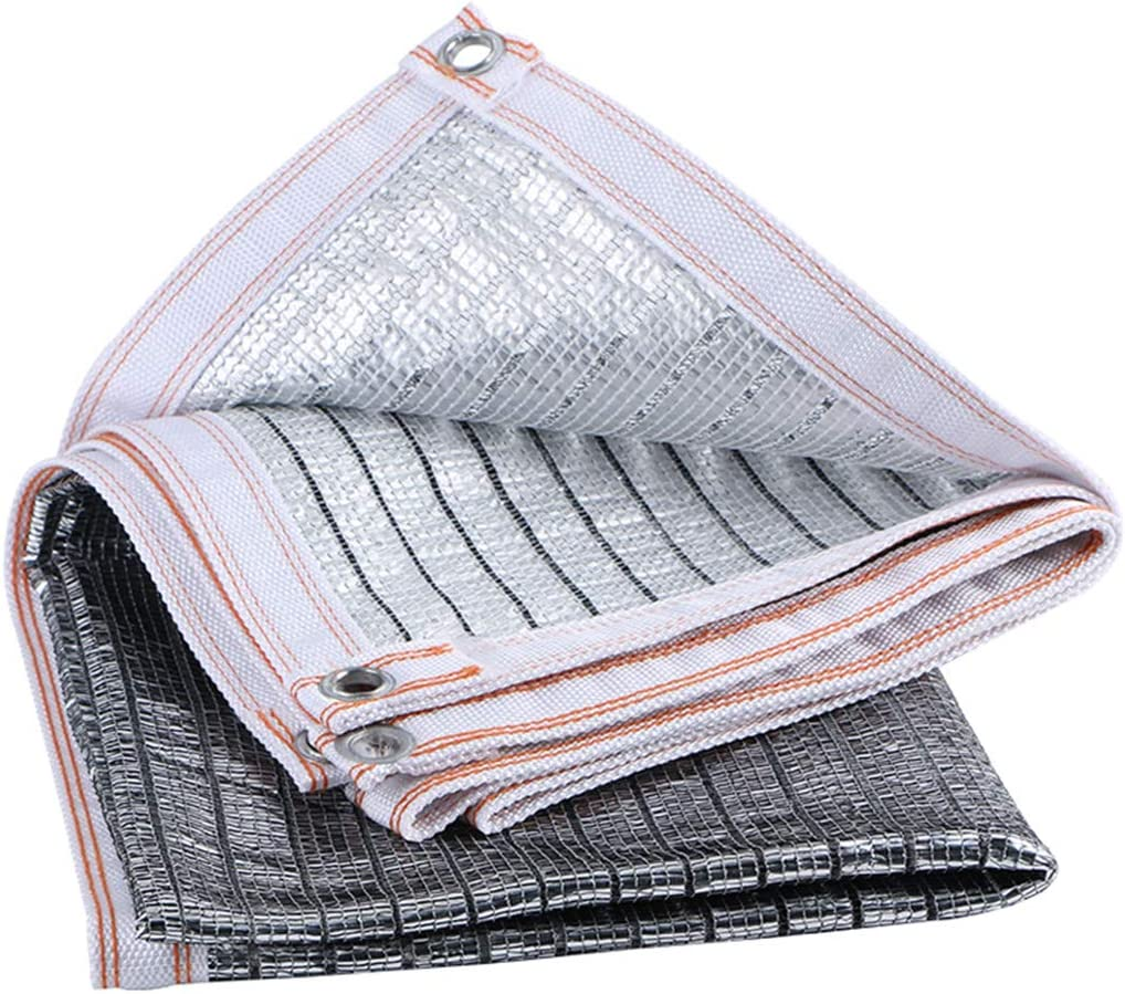 Tarpaulin 85% Reflective Aluminum foil Shading net, Anti-Ultraviolet Heat Insulation/Sun Protection Cloth for Garden, Garden Shade shed